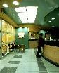 Зеленый натяжной потолок в офисе