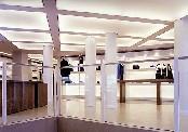 Полупрозрачный натяжной потолок в салоне