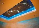 """Swarovski. Натяжной потолок """"звездное небо"""". Хрусталики на потолке"""