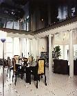 Черный натяжной потолок в магазине мебели