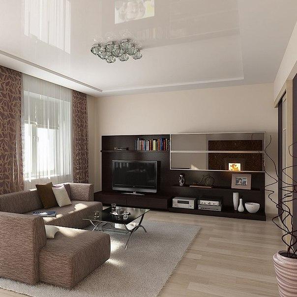 Дизайн гостиной 6 на 4 метра с двумя окнами