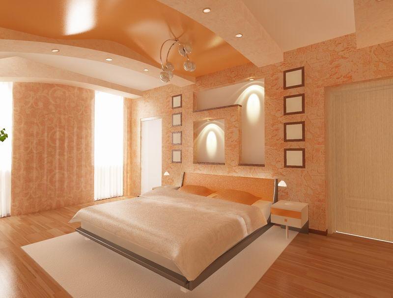 Спальни интерьер потолок 134